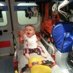 Prima volta in ambulanza in Croce Rossa ad un anno.