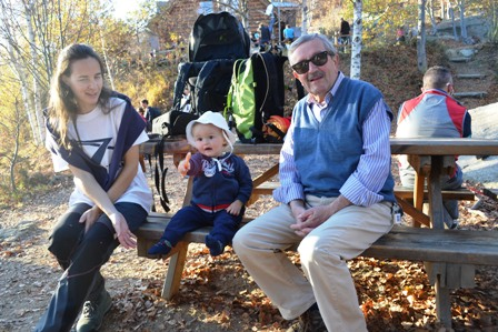 Al Rifugio Melano con mamma e nonno Mario