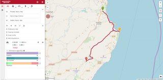Sulle orme di Grazia Deledda - Mappa itinerario