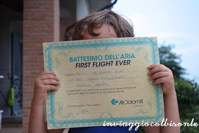 Certificato Battesimo del Volo