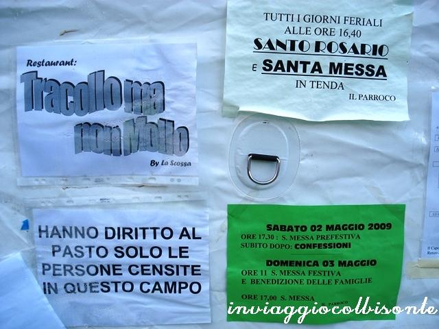 Sisma Abruzzo 2009 Tenda Mensa