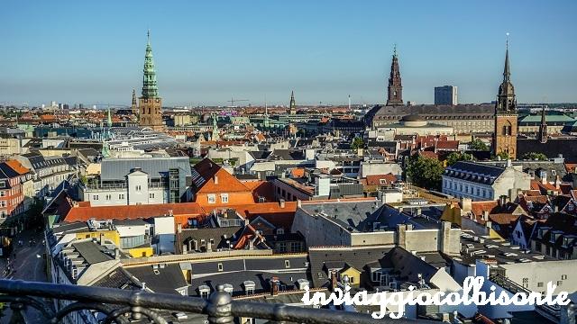Sei giorni a copenhagen e dintorni con i bambini - panorama dalla torre rotonda