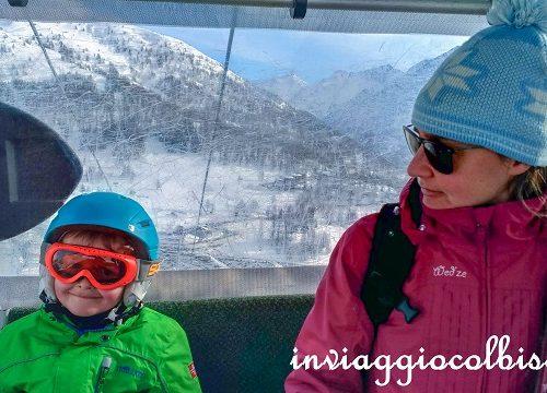 Sciare con i bambini a Sestriere sulla Via Lattea