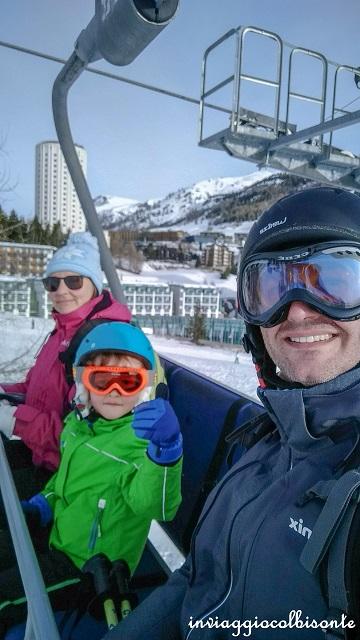 sciare con i bambini a sestriere