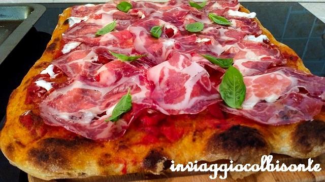 pizza in teglia alla romana coppa stracciatella