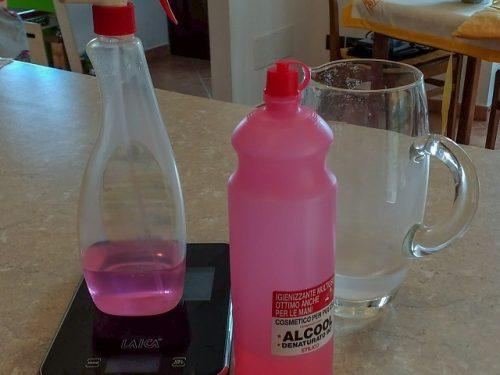 Coronavirus – soluzione idro-alcolica fatta in casa secondo le linee guida
