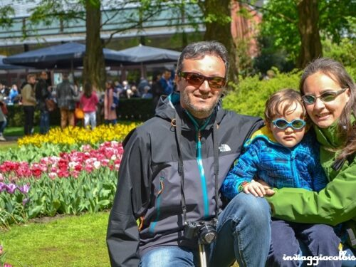 La fioritura dei tulipani al parco Keukenhof con i bambini